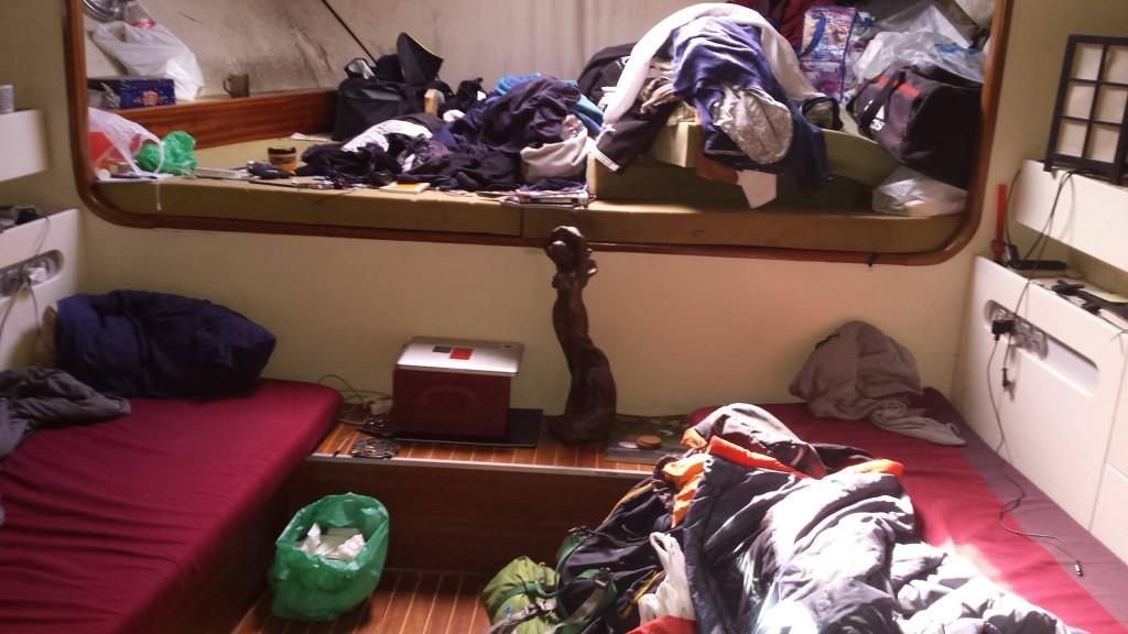 Nasz pokój na łodzi u Roya