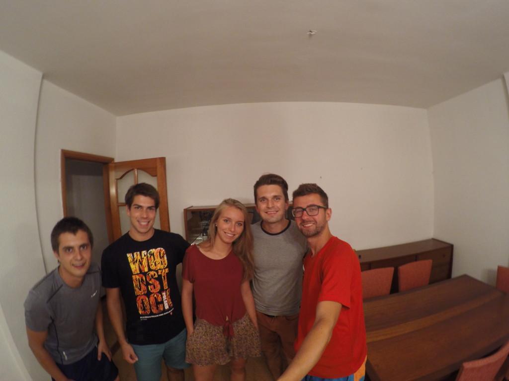 Nasi gospodarze z couchsurfingu. Od lewej: Michał, Ola i Rafał. Dziękujemy!