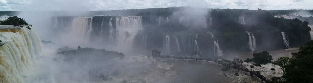 Panorama wodospadów Iguazu