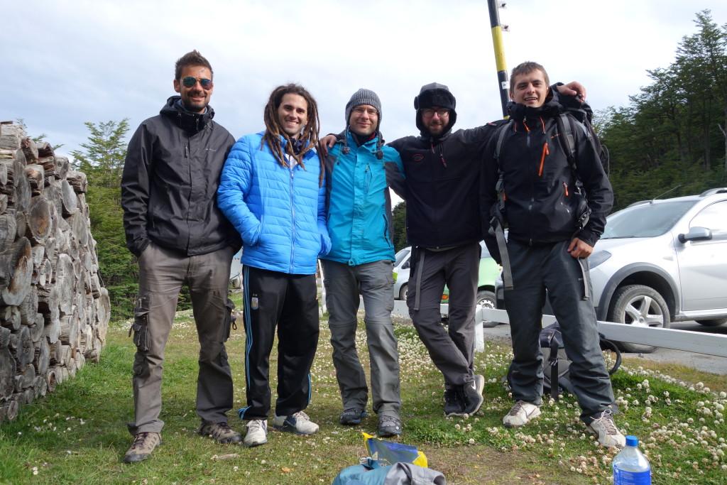 Od lewej: Chorwat, jego host, Jordan i my.