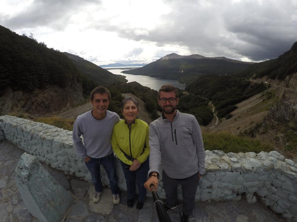 Z Cristiną - w drodze na Ushuaię.